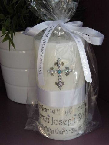 Personalised 1st Holy Communion Candle
